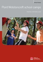 Teachers information pack - Point Wolstoncroft - NSW Sport and ...