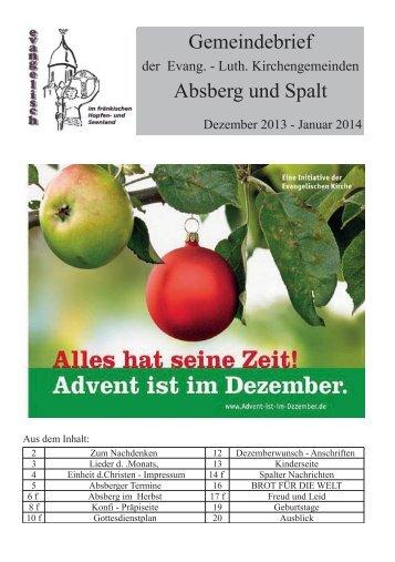 Gemeindebrief Absberg und Spalt