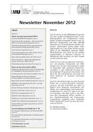 Newsletter November 2012 - LMU