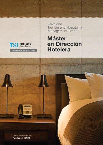 Folleto informativo del Máster en Dirección Hotelera (PDF)