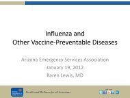 Influenza and Other Vaccine-Preventable Diseases - Arizona ...
