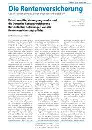 Patentanwälte, Versorgungswerke und die ... - Vogts & Partner