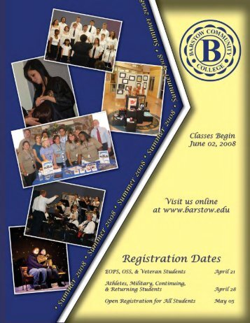 Summer 2008 - Barstow Community College