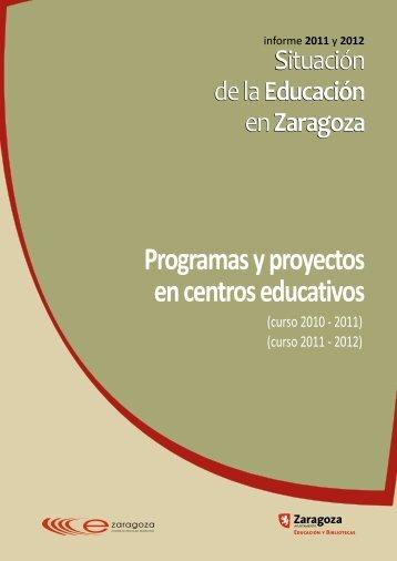 SEZ05 2011 y 2012 PROGRAMAS - DGA - Ayuntamiento de Zaragoza