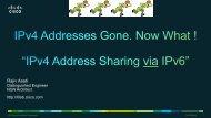 IPv4 Address Exhaustion Problem CESNA Recommendation ...