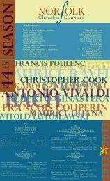 ANTONIO VIVALDI - Norfolk Chamber Consort