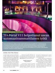 TIA Portal V11 helpottanut usean ... - Siemens