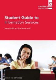 Student Guide to - Staffordshire University