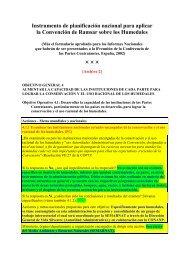 Instrumento de planificación nacional para aplicar - Ramsar ...