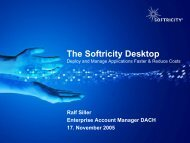 The Softricity Desktop - Centracon
