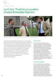 Le C.H.U. Tivoli à La Louvière choisit Schneider Electric