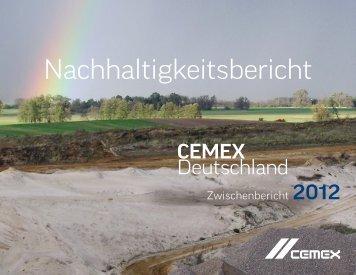 Zwischenbericht der CEMEX Deutschland AG