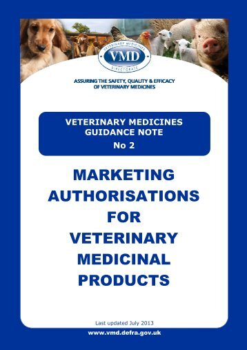 VMGN 02 - Marketing Authorisations for Veterinary Medicinal Products
