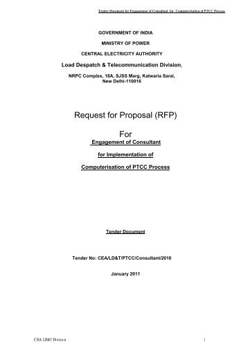 Request for Proposal (RFP) - Central Electrical Authority