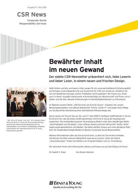 CSR Newsletter – Relaunch - Rudolf X. Ruter