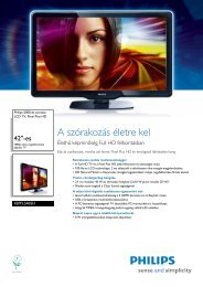 42PFL5405H/12 Philips LCD TV, Pixel Plus HD - LCD és plazma TV ...