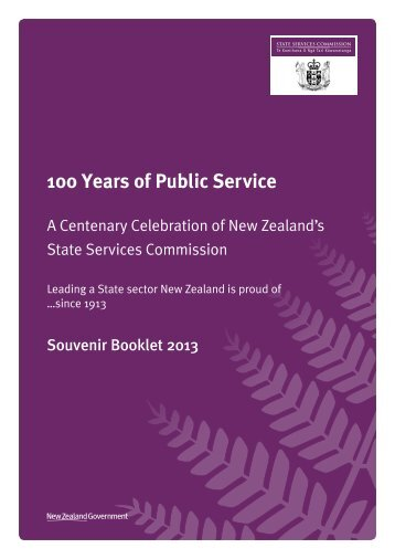 A Centenary Celebration of New Zealand's State Services ...