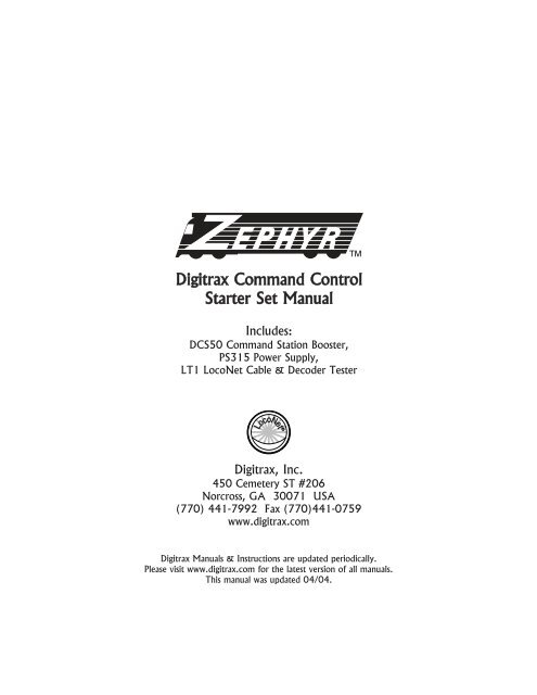 To read the Digitrax DCS-50 Zephyr manual     - DCC Concepts