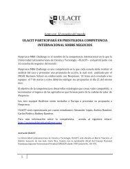 1 ulacit participará en prestigiosa competencia internacional sobre ...