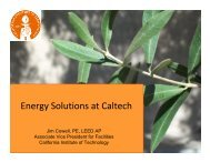 Energy Solutions at Caltech