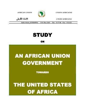 Study on an African Union Government towards the United States of ...
