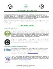 Green Fact Sheet - Los Angeles Convention Center