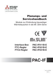 Planungshandbuch Mitsubishi PAC-IF011_IF031 - KlimaCorner.de