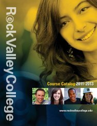 Course Catalog 2011-2013 - Rock Valley College