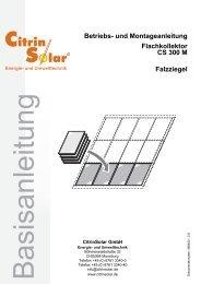CS 300 M Basisanleitung Falzziegel DE V.book - Citrin Solar
