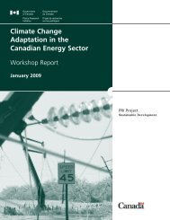 Climate Change Adaptation in the Canadian Energy Sector