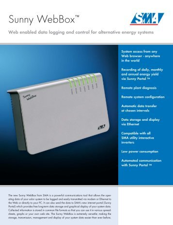Sunny WebBox - PVPower.com