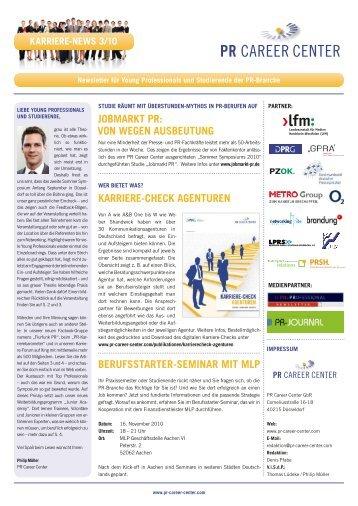 Karriere-News_3_2010 - PR Career Center