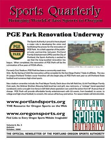 Newsletter September 2000 - Oregon Sports Authority