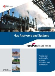 Gas Analysers and Systems - MTL Instruments