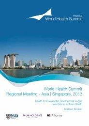 World Health Summit Regional Meeting - Asia   Singapore, 2013