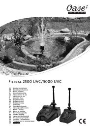 Filtral 2500 UVC/5000 UVC - Zahradní jezírka OASE