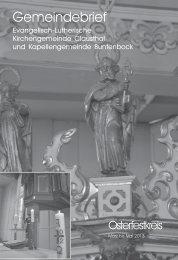 Ausgabe Februar bis März 2013 - Kirchengemeinde Clausthal