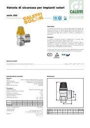 Valvola di sicurezza per impianti solari - Caleffi