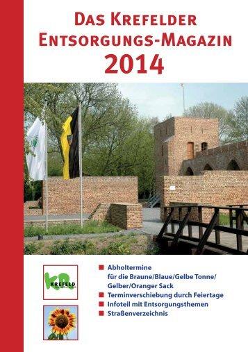 Das Krefelder Entsorgungsmagazin 2014