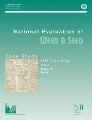 National Evaluation of Weed and Seed: Salt Lake City Case Study