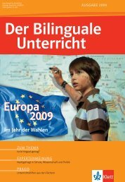 Der Bilinguale Unterricht - Ernst Klett Verlag