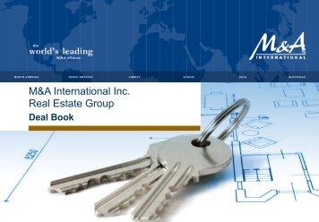 M&A International Inc.: Real Estate Deal Book - Zimma