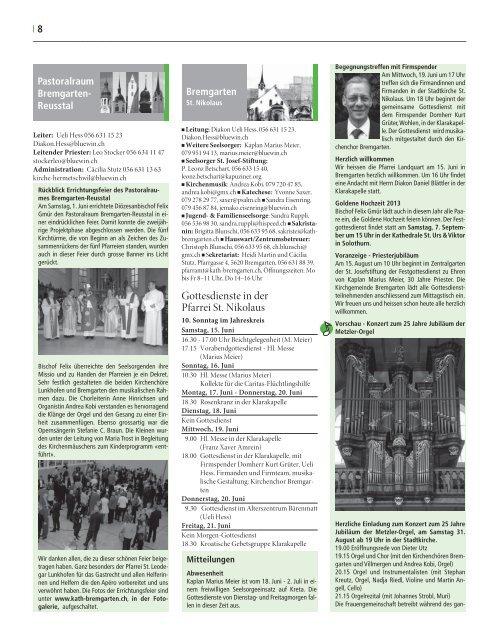 Bettag - Pfarrei Geuensee