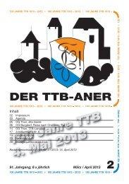 100 Jahre TTB 4. Mai 2013 - TTB Burgdorf