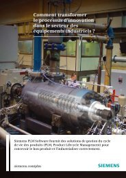 Industrial Machinery Overview Brochure (French) - Siemens PLM ...