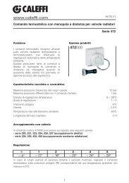 Comando termostatico con manopola a distanza per valvole - Caleffi