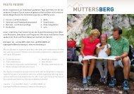 feste feiern - Muttersberg