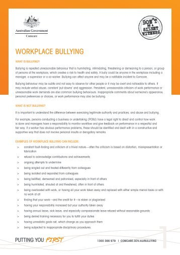 bullying bosses case study 2 page Case law and out-of-court settlements note: bullying is behind all forms of harassment, discrimination, prejudice, abuse, conflict and violence when the bullying has a focus (eg race or gender) it is expressed as (racial or sexual) harassment or discrimination.