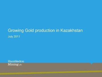 Hambledon Mining One2One Presentation - 7th July - Proactive ...