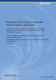 Evaluation of the Full Service Extended Schools Initiative: Final Report